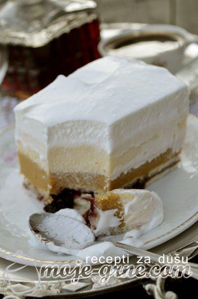 Nepečena griz torta