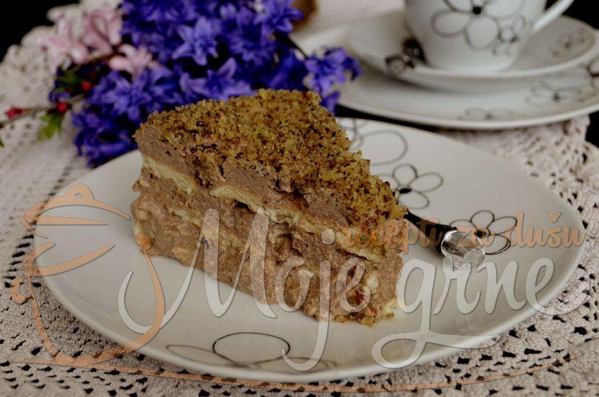 Nepečena keks torta