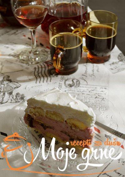 Nepečena torta sa malinama