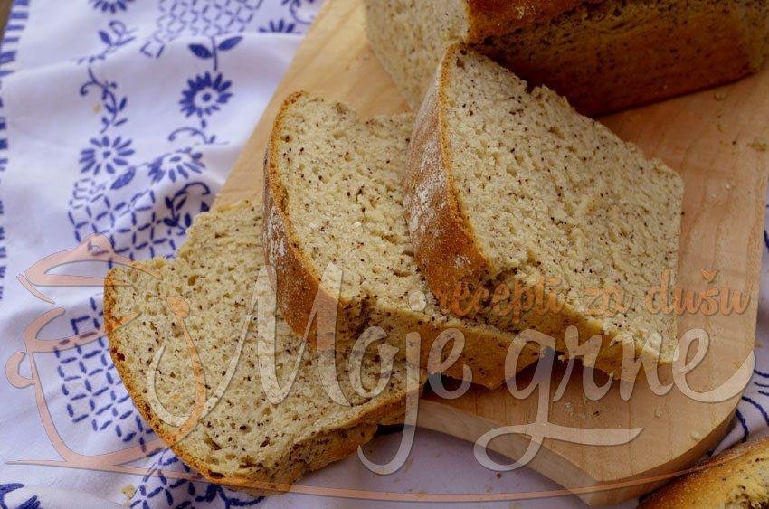 Raženi hleb sa jogurtom i makom