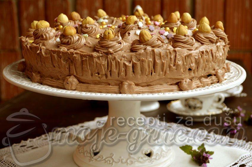 Čoko lešnik torta
