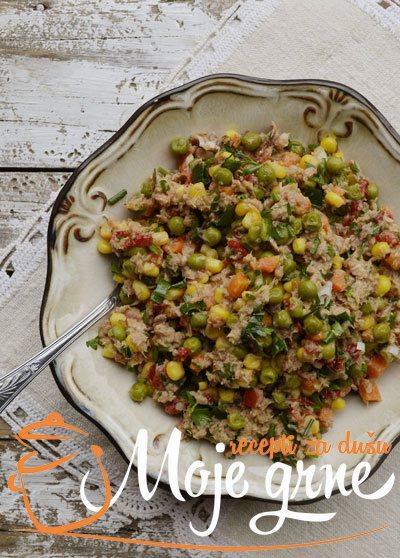 Posna salata sa tunjevinom