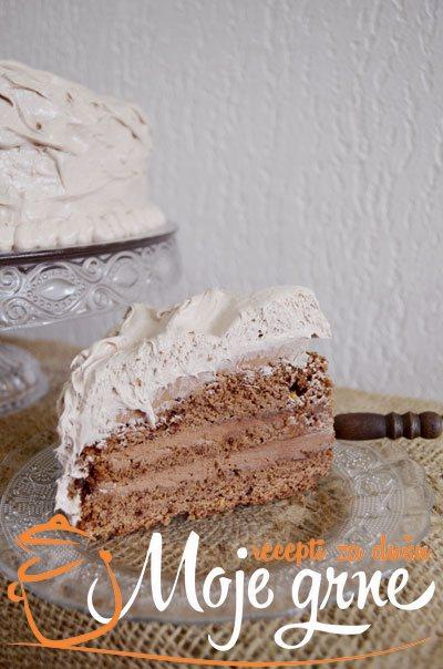 Moka oranž torta