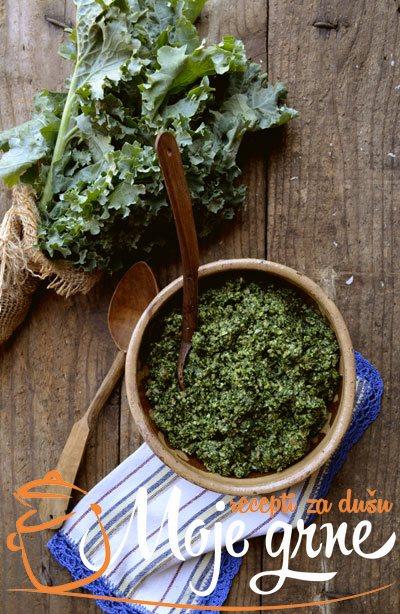 Pesto od lisnatog kelja - Kale pesto