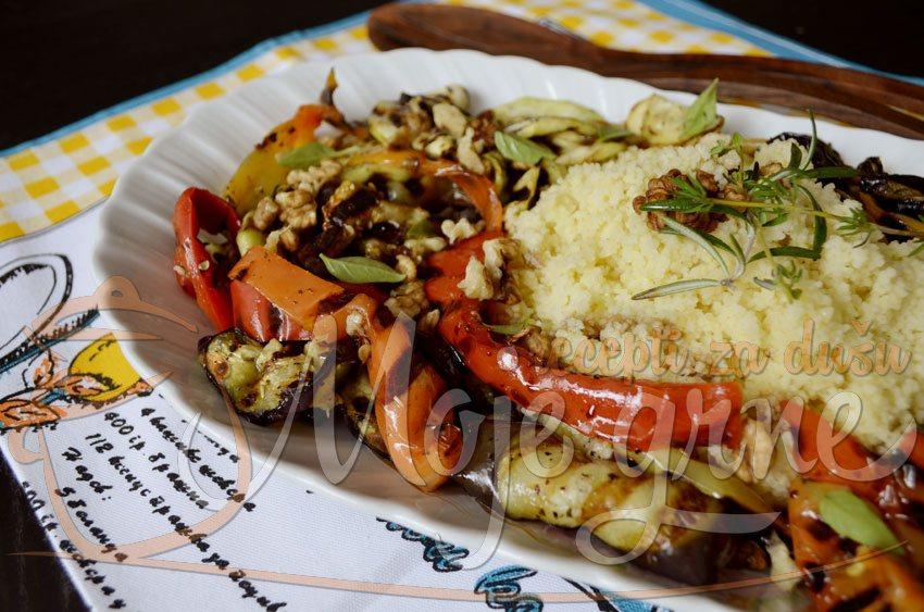 Provansalska salata od grilovanog povrća