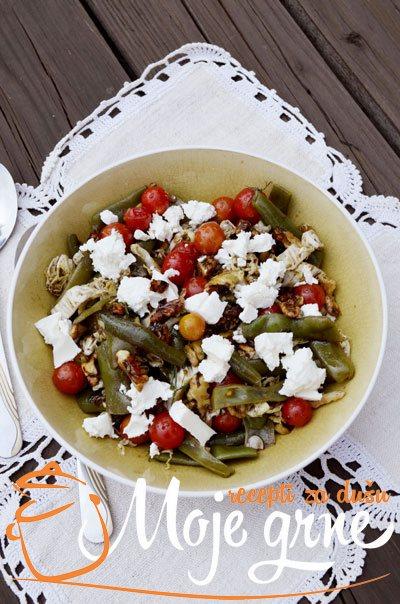 salata od boranije paradajza i fete1