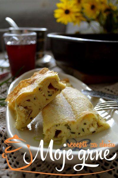Ljubljanske palačinke od sitnog sira sa estragonom