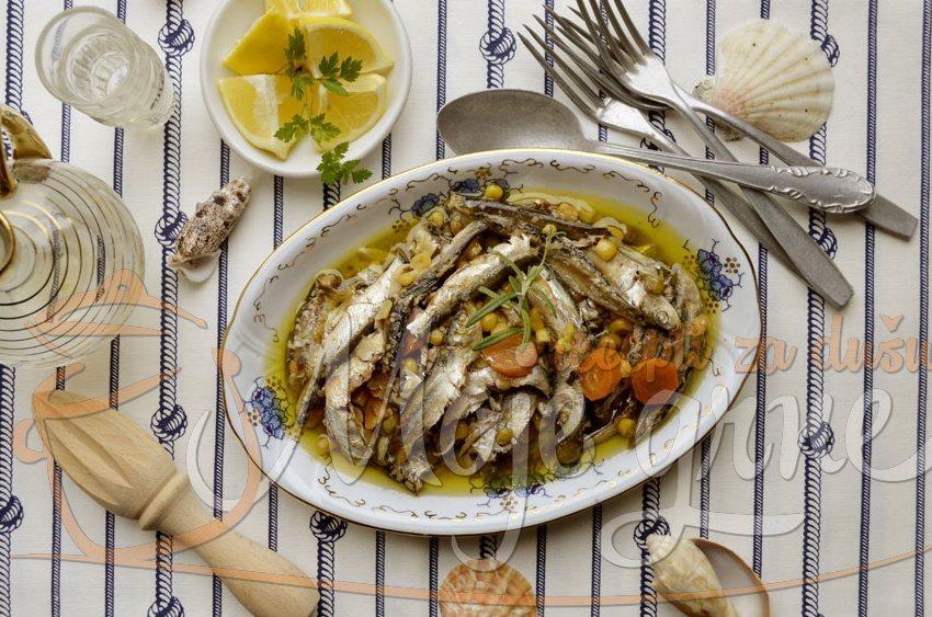 Domaća sardina sa povrćem