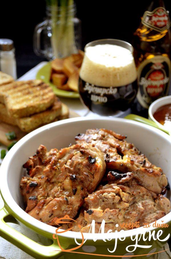 Pileći bataci u marinadi od crnog piva