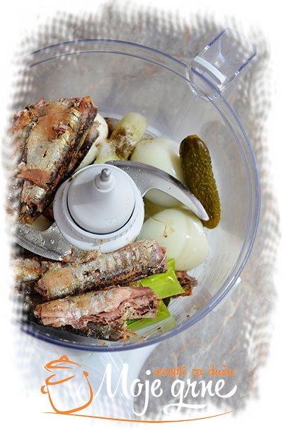 Domaća pašteta od sardine