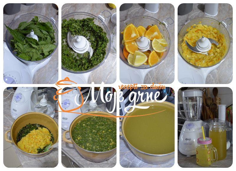 Sirup od koprive sa citrusima