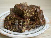 Crunchy čokoladne kocke sa kikiriki puterom
