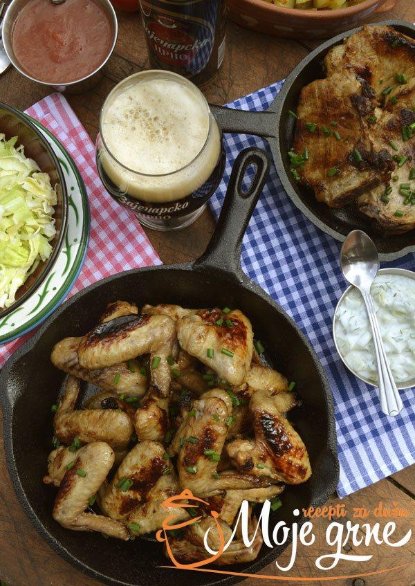 Krilca i krmenadle u marinadi od crnog piva
