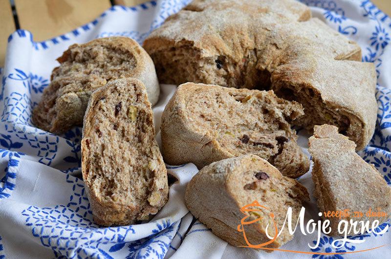 Integralni hleb sa maslinama
