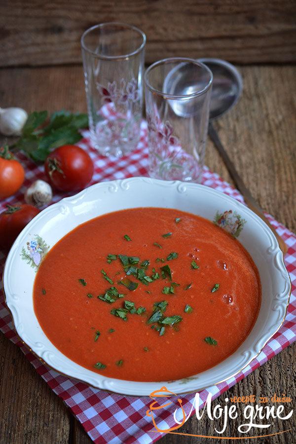 Krem čorba od pečenog paradajza