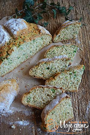 Soda hleb sa sremušem - Wild Garlic Soda Bread