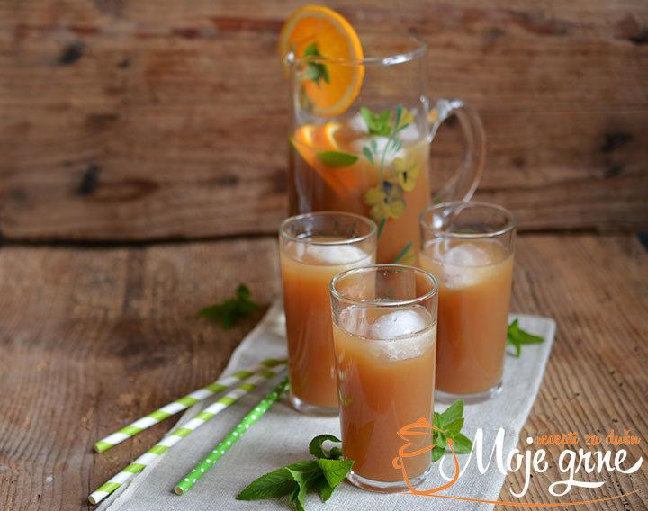 Ledeni earl grey sa narandžom