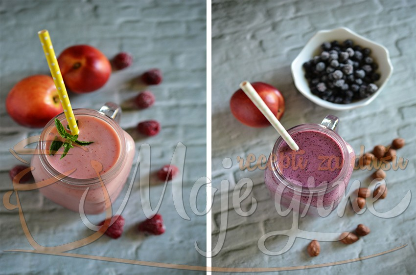 Smuti sa nektarinama i crvenim voćem