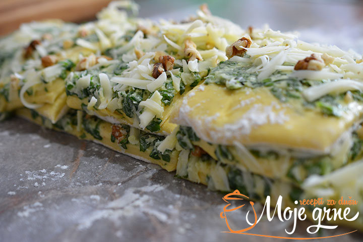 Lisnati hleb sa sremušem i sirom / Wild garlic and cheese pull apart bread