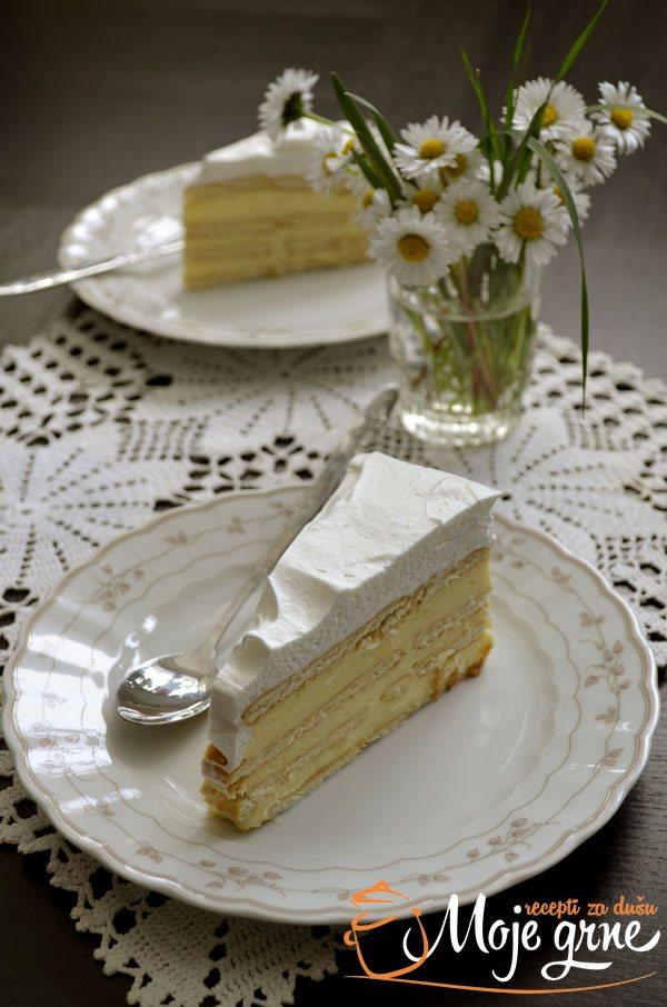 Keks torta sa belom čokoladom