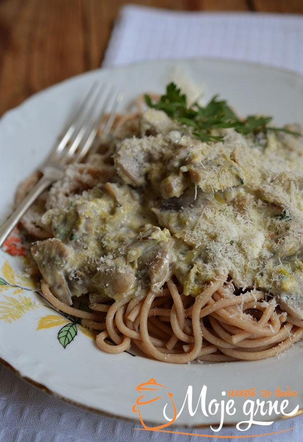 Ražani špageti sa povrćem