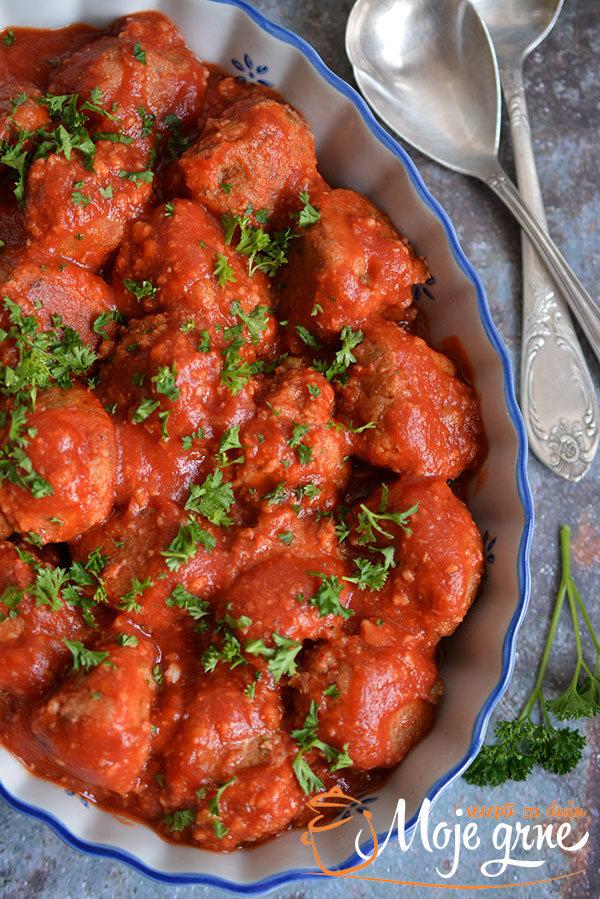 Ćuftice od ćuretine u paradajz sosu