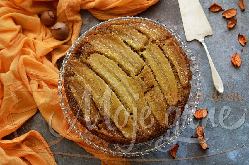 Prevrnuti kolač od banane i đumbira