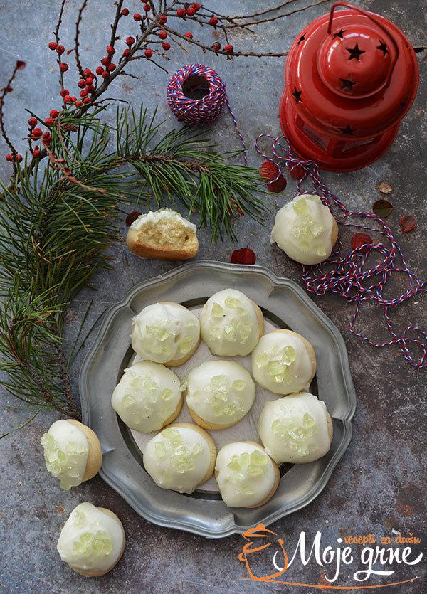 Glazirani pepermint keks