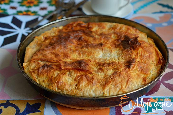 Pita od heljdinih kora sa mladim lukom i sirom