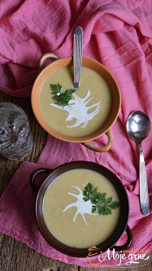 Višisoaz (Vichyssoise) - Hladna supa od praziluka i krompira